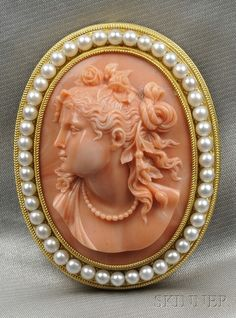 Cameo and pearls