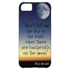 Paul Brandt quote moon sunset design iPhone 5C case #iphone5c,