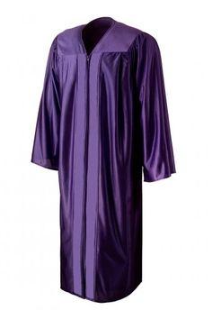 Shiny Purple Graduation Gown