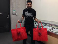 Stefano Alcantara - picking up some supplies from the Mithra NY showroom.