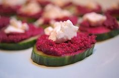 Transform fresh beets into a healthy vegetable dip or spread. Beet hummus is a terrific light appetizer with feta or goat cheese on cucumber slices.