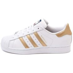 Womens adidas Superstar Athletic Shoe ($99) ❤ liked on Polyvore featuring shoes, athletic shoes, sneakers, sports footwear, traction shoes, laced shoes, leather athletic shoes and sports shoes