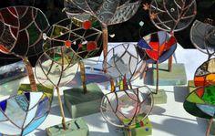 Rina's glass trees #viazanella#streetmarket #varese#italy