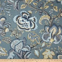 Jacobean Flower Upholstery Fabric Designer Fabric by RoomKandi