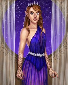 Feyre: art by Anna Vee Art (xdeadonarrivalx on tumblr)