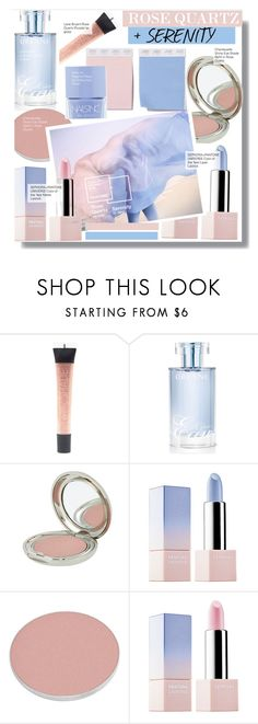 """""""Pantone Color of the Year 2016 - Rose Quartz and Serenity Beauty"""" by kusja ❤ liked on Polyvore featuring beauty, Lane Bryant, Orlane, Chantecaille, Sephora Collection, Nails Inc., Beauty, makeup, serenity and rosequartz"""