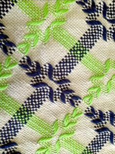 Gray Swedish Weaving Blanket by NeenersWeaving on Etsy Bargello Patterns, Bargello Needlepoint, Cross Stitch Rose, Cross Stitch Embroidery, Free Swedish Weaving Patterns, Bordado Tipo Chicken Scratch, Couture Invisible, Swedish Embroidery, Chicken Scratch Embroidery