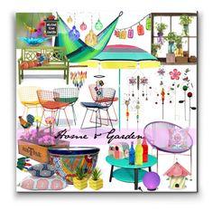"""""""Home & Garden"""" by marionmeyer on Polyvore featuring interior, interiors, interior design, Zuhause, home decor, interior decorating, KnollStudio, Modern Sprout, Innit und Prada"""