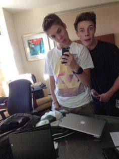 Matthew Espinosa and Cameron Dallas