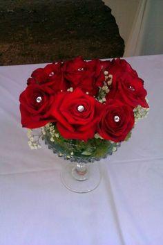 Vintage Rose Arrangement Centerpiece