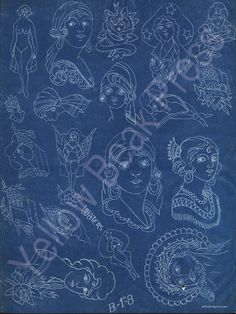 Percy Waters Blueprint Poster - Print #1