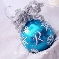 Monogrammed Christmas Ornament
