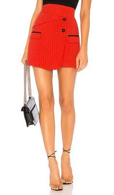 76c85050cdce x Yovanna Ventura Aella Mini Skirt in Red   Black Sugar And Spice
