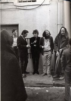 Robbie Robertson, Bob Dylan, Allen Ginsberg & Lawrence Ferlinghetti, among others