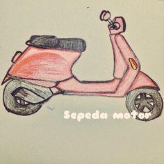 Ini sepeda motor. This is a motorbike.