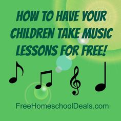 Have you wanted to enrich your homeschool with music lessons but can't afford to? Here is how Jenn added them in for free! All links are in this post- http. Online Music Lessons, Music Lessons For Kids, Music For Kids, Piano Lessons, Teaching Music, Teaching Kids, Teaching Resources, School Resources, Music Education
