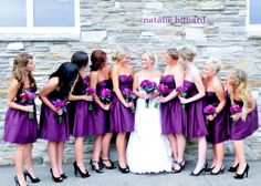 Purple Bridesmaids Dresses- love the color and style!