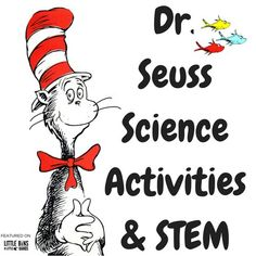 Dr. Seuss science activities and STEM projects to pair with favorite Dr. Seuss books! Try Cat In The Hat Slime, preschool Seuss science, oobleck, and more!