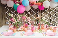 We knew a table loaded with treats was non-optional, so we teamed up with The Wedding Cake Shoppe and ended up with amazing donuts, cupcakes, macarons, cookies and a pink ombre cake so pretty that we…