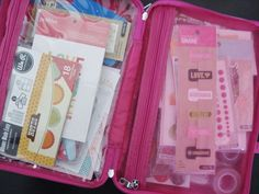 on-the-go travel smash book supply kit
