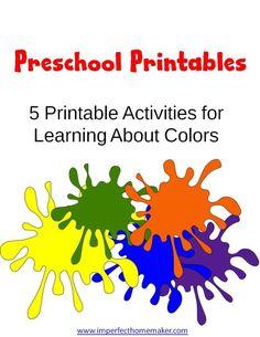 Preschool Colors Printables