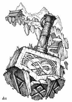 mjolnir tattoo - Google Search