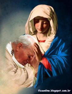 St. Pope John Paul II loved Our Blessed Mother....and she loved him.