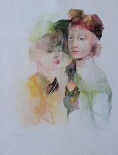 Françoise de Felice (French, born 1952) ~  Aquarelle grande