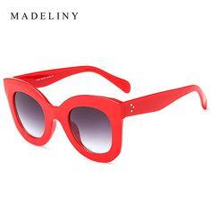 b3d03bbf25f5 2018 New Fashion Cat Eye Sunglasses Women Brand Designer Vintage Gradient  Cat Eye Sun Glasses Shades For Women