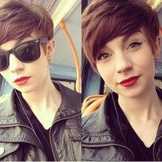 Modern Pixie Hair Cut for Side Bangs