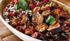 Vegetarian Recipes, Cooking Recipes, Healthy Recipes, Garlic Salad Recipe, All Star, Schnitzel Recipes, Eggplant Caponata, Sicilian Recipes, Sicilian Food