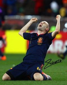 Autograph by Andres Iniesta