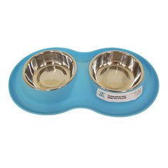 silicone-double-bowl-black-small-set