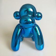 Aliexpress.com : Buy Blue Metallic Balloon Animals Bunny Money Box Monkey Figurine American Pop Art Craft Ornament Ceramic Crafts Love XMAS Giftl from Reliable craft full suppliers on Jonlala's lovely store
