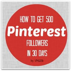 I'm sharing my tips on How to Get 500 Pinterest Followers in 30 days. I did it last month, and you can too! Pinterest is my number one traffic referral for my blog. And I've been adding to my numbers each month, but slowly. So, I decided that I would look into Pinterest and see…