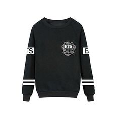 SHINING EASYBUY KPOP Hip Hop Pullover hip-hop Rap Monter Suga V Jin... ($29) ❤ liked on Polyvore featuring tops, hoodies, sweatshirts, sweaters, shiny tops, pullover sweatshirt, wet look top, pullover top and sweater pullover