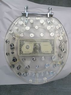 Vintage Clear Lucite American US Coin Money Toilet Seat | eBay