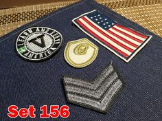 US Army Vintage Embroidery Patches Towel Patches Sew on