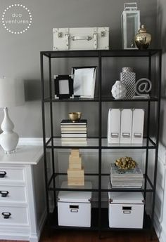 How To Make The Open Shelves Looks Pretty Turning A Dining Room Into Home Office