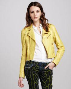 Women's Pierre Balmain Leather Moto...    $1,975.00