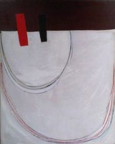 "Terry Frost, ""Red and black wedge,"" 1961, huile sur toile, 50'' x 40''"