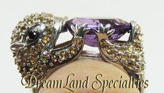 Unique Sterling Silver Amethyst Citrine Ring from DreamLand Specialties