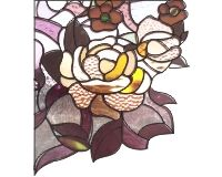 Window corners - roses stained glass and window cling corner roses pattern [0]$2.00   PDQ Patterns