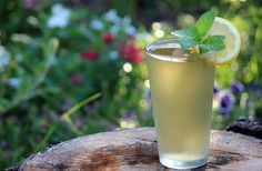 Iced Green Tea with Mint and Lemon | Eatright Art