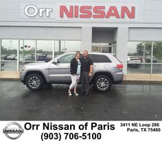 https://flic.kr/p/FQ7M7G | Congratulations Ashley on your #Jeep #Grand Cherokee from Nick Jones at Orr Nissan of Paris! | deliverymaxx.com/DealerReviews.aspx?DealerCode=J476