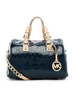 e4b23bb58e7d MICHAEL Michael Kors Medium Grayson Monogram Satchel. Cheap Michael Kors