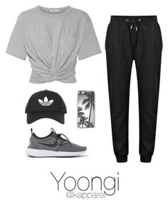 Dance Practice: Yoongi by kapparel on Polyvore featuring moda, T By Alexander Wang, NIKE and Topshop