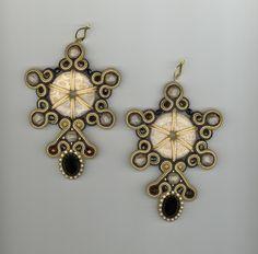 creative soutache; coin shaped beAds