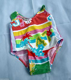 NWT Sand N Sun Athletic Style Baby Girls 1 Piece Swimsuit - Multi-Color-SZ 12mo  - Re-list April 10, 2014 - 7 day Auction