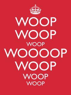 Keep Calm  t-shirt Funny Woop Woop Woop tshirt by VincentCarrozza